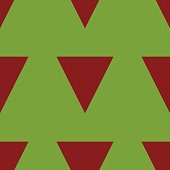 Green Background with Red Triangles