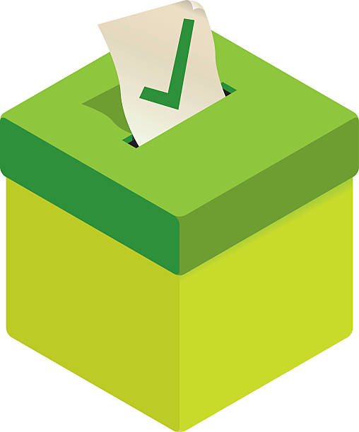 Green Wahlurne – Vektorgrafik