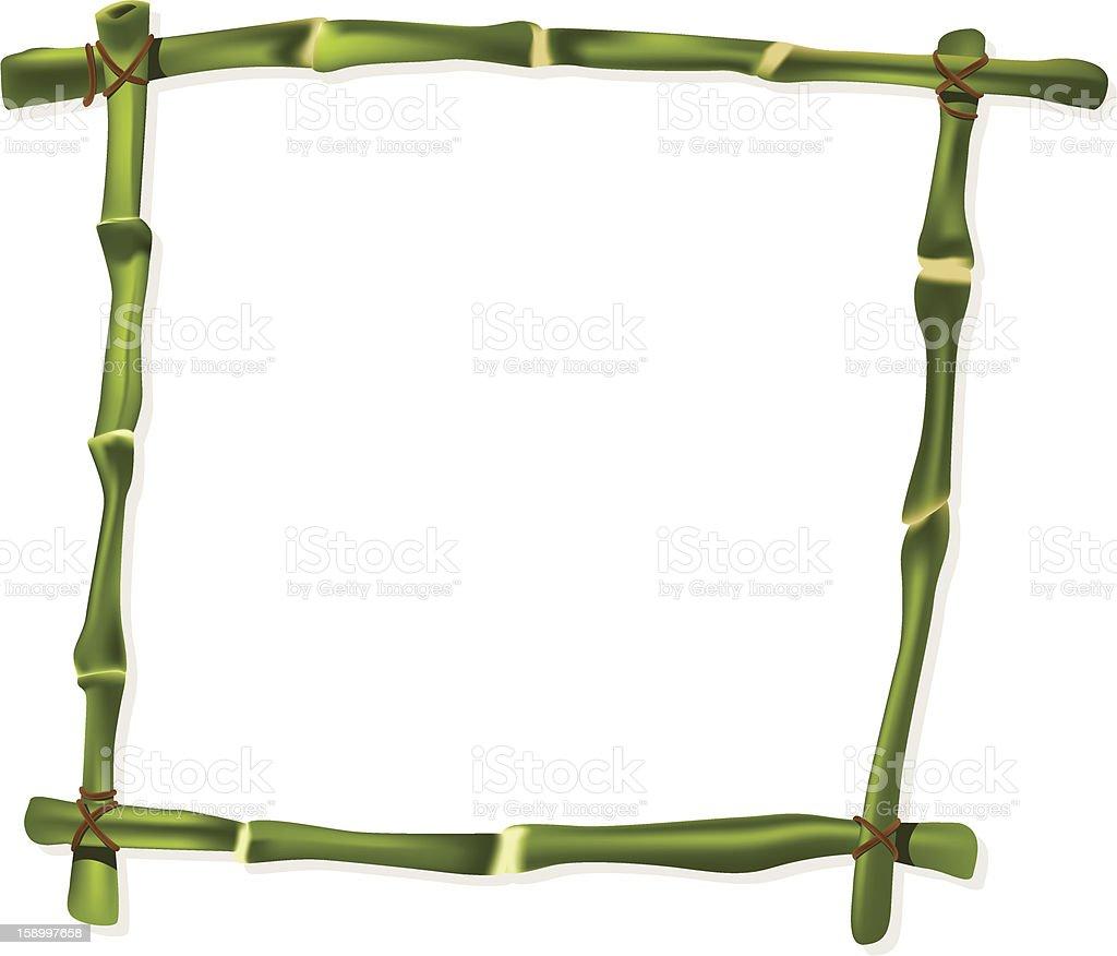 Grüne Bambusrahmen Stock Vektor Art und mehr Bilder von Bambus ...