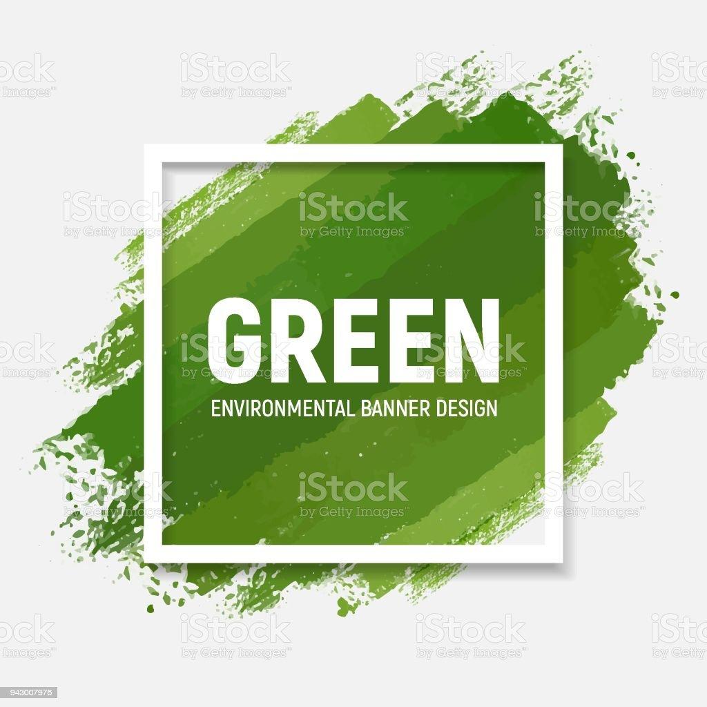 Vert bannières - Illustration vectorielle