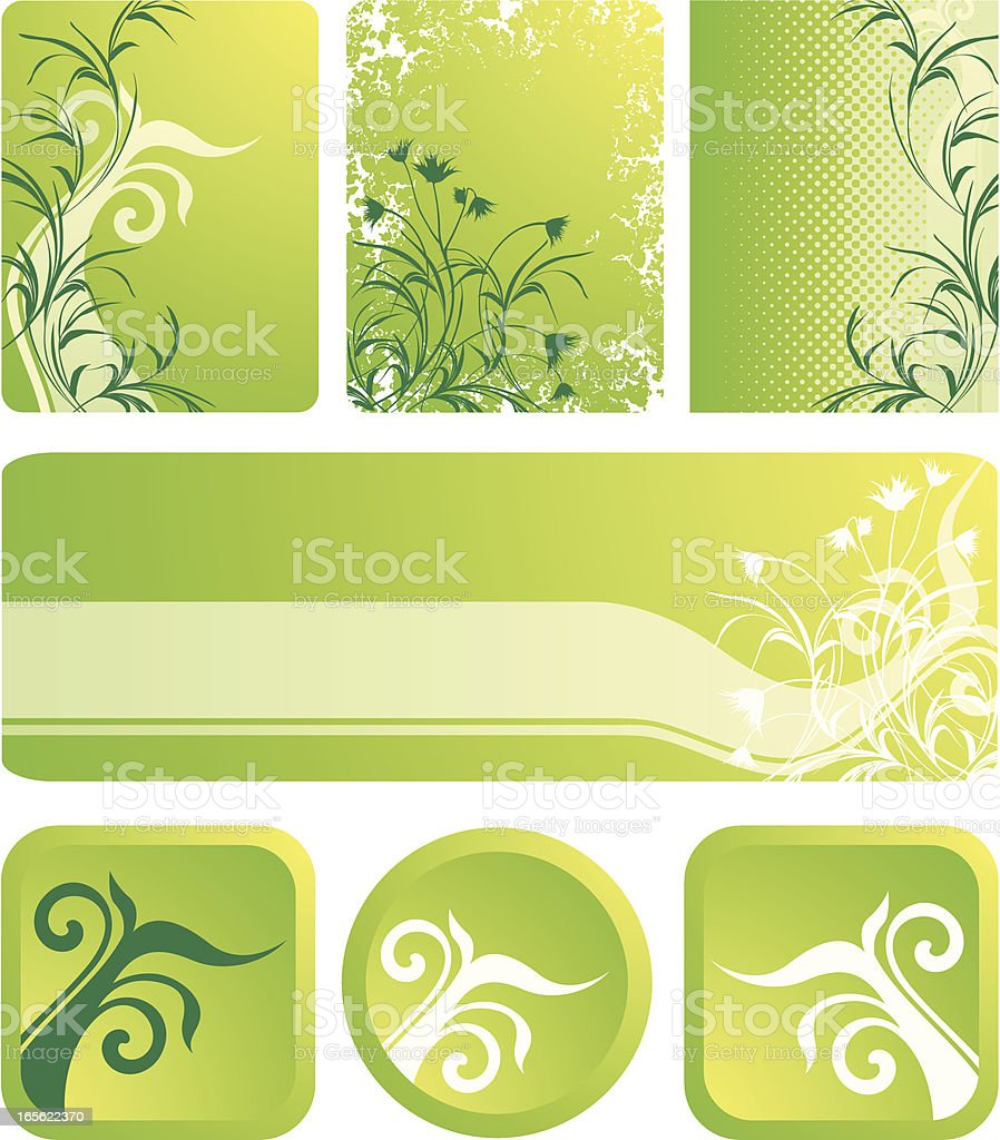 Green banners royalty-free green banners stock vector art & more images of abstract