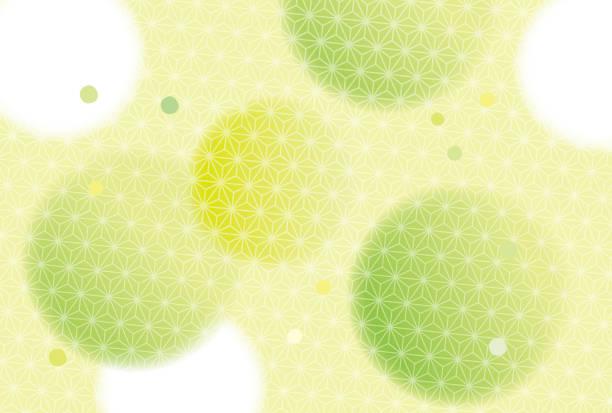 緑美しい和風柄 - 抹茶点のイラスト素材/クリップアート素材/マンガ素材/アイコン素材