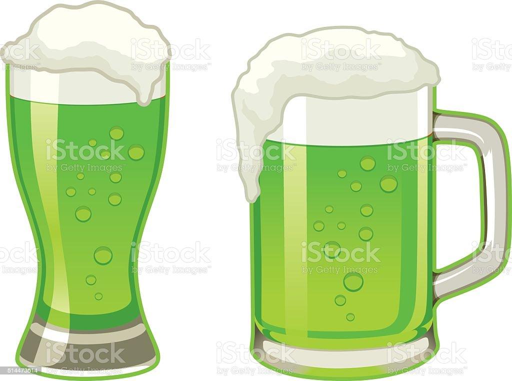 Green Beer Icon vector art illustration