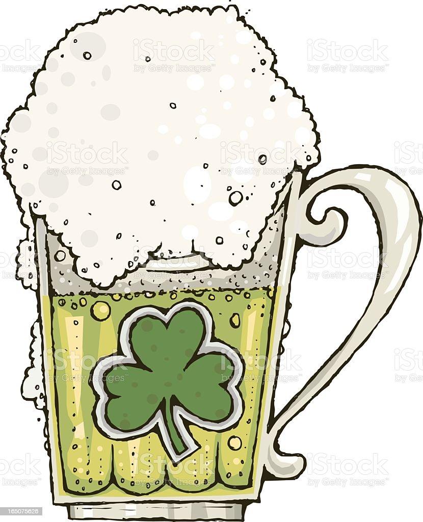 Green Beer vector art illustration