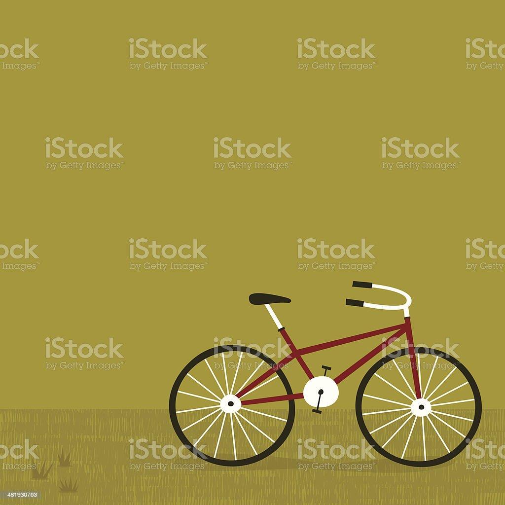 Green Biking vector art illustration