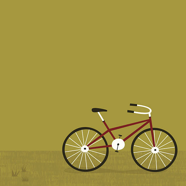 Green Biking vector art illustration
