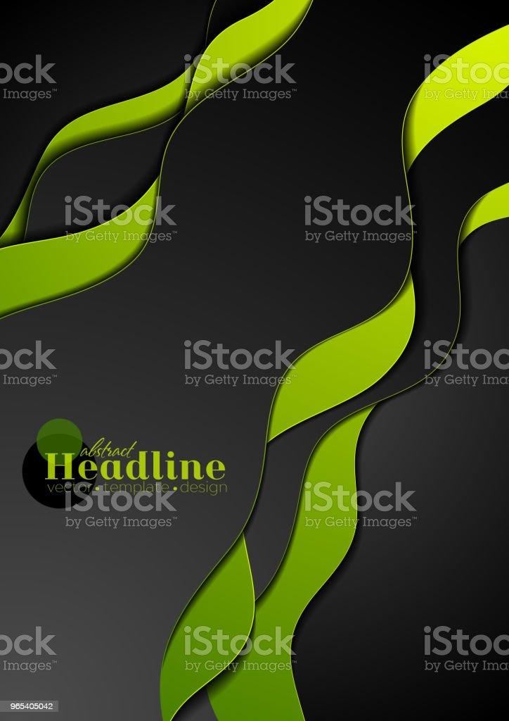 Vert noir ondulé entreprise abstrait - clipart vectoriel de Abstrait libre de droits