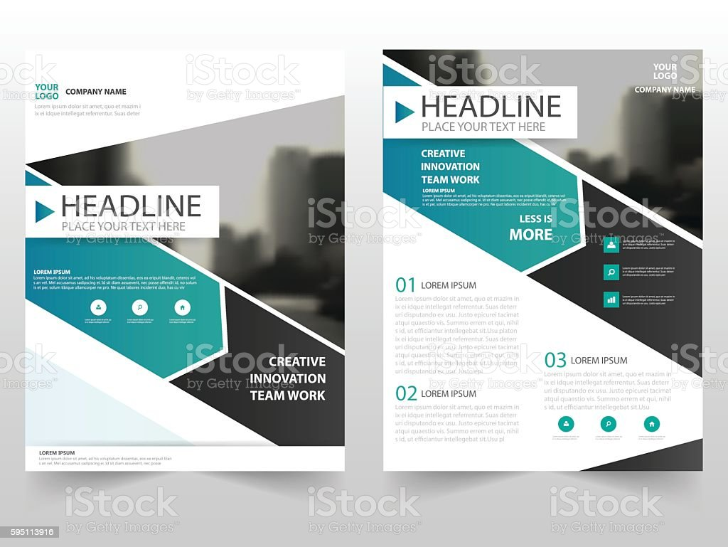 green black business brochure leaflet flyer annual report template
