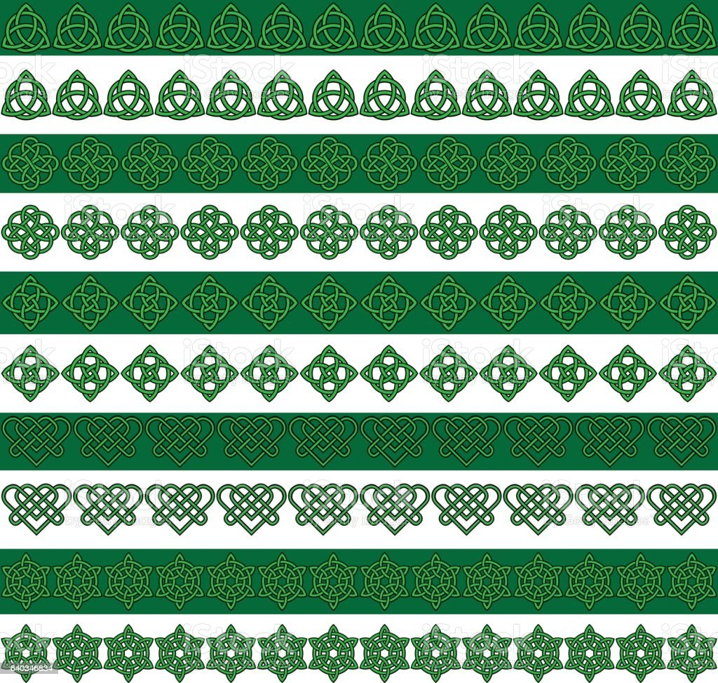 Green Black Celtic Border Patterns Stock Vector Art & More ...