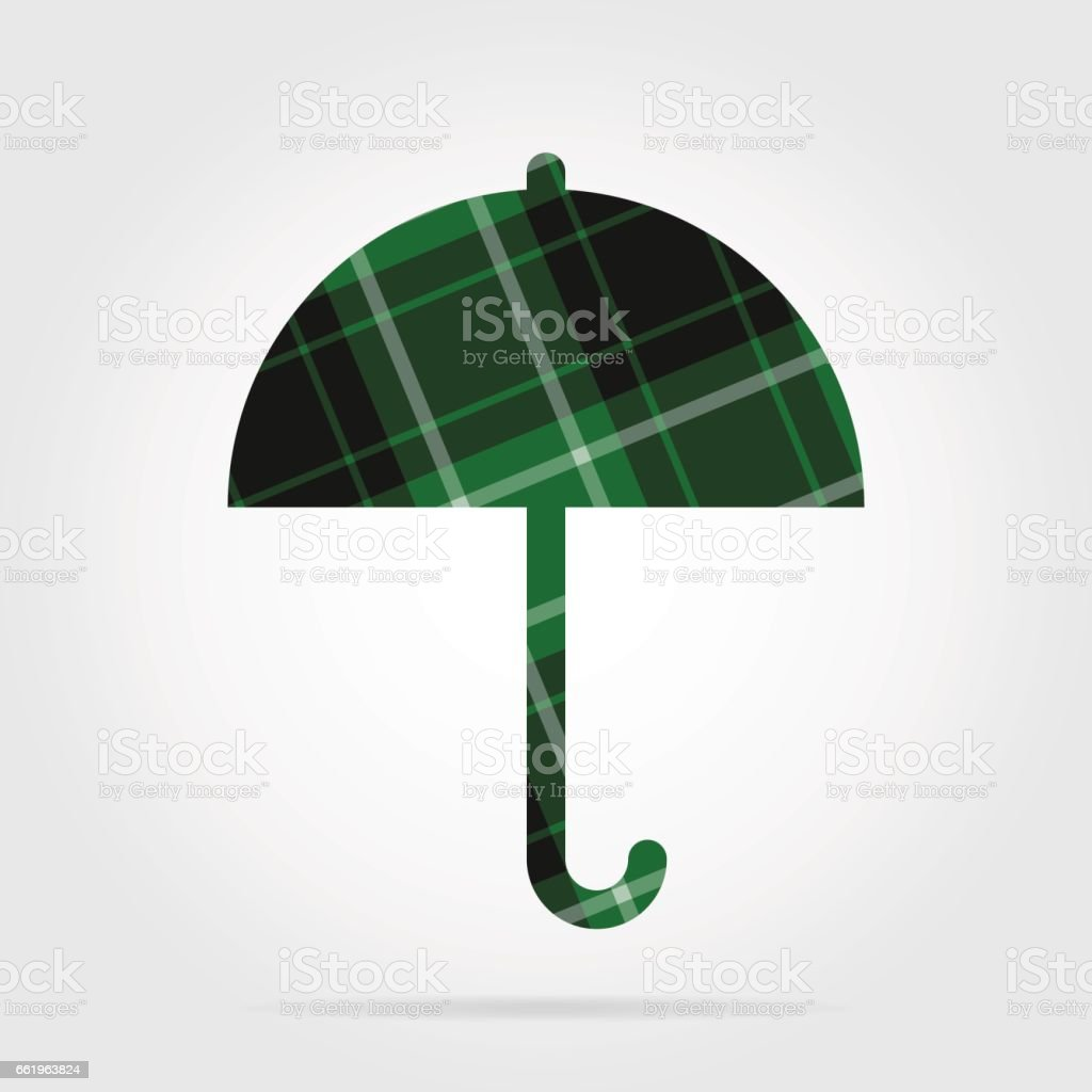 green, black tartan isolated icon - umbrella royalty-free green black tartan isolated icon umbrella stock vector art & more images of abstract