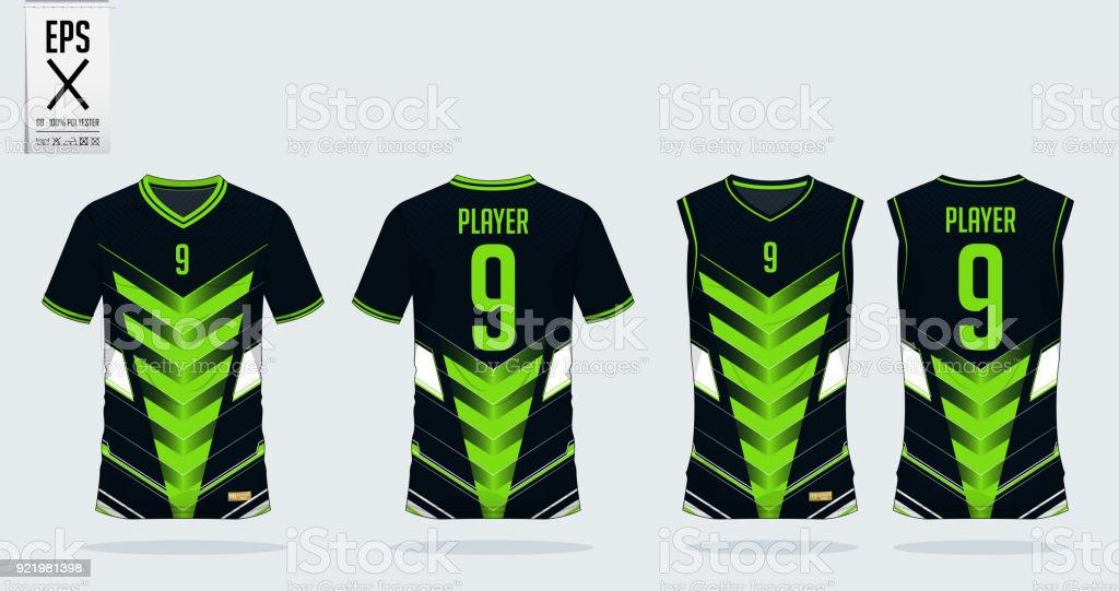 Ilustración de Plantilla De Diseño De Deporte Verde Negro Camiseta ... 3b54dcc589f1c
