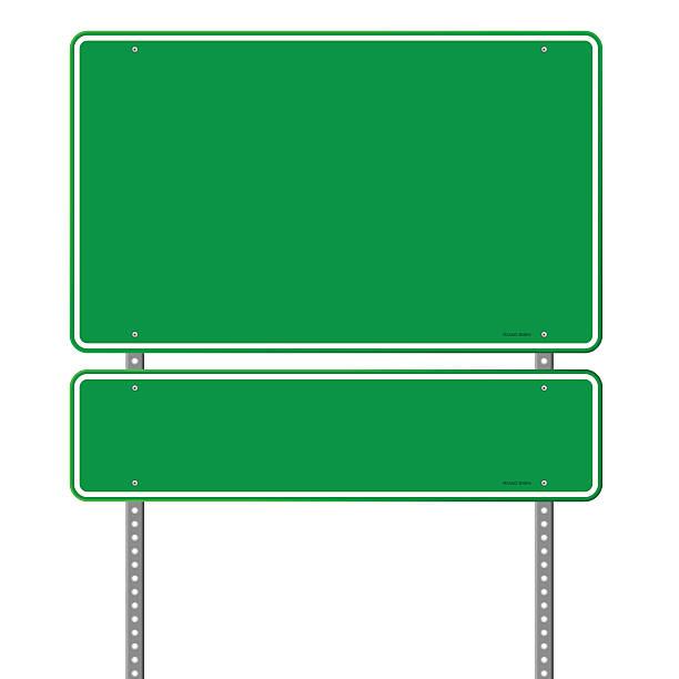 Green Blank Roadsign vector art illustration