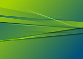 Green and blue abstract stripes vector modern background
