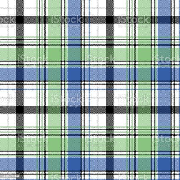 Zielony Niebieski Sprawdź Piksel Kratowy Bez Szwu Wzór - Stockowe grafiki wektorowe i więcej obrazów Abstrakcja