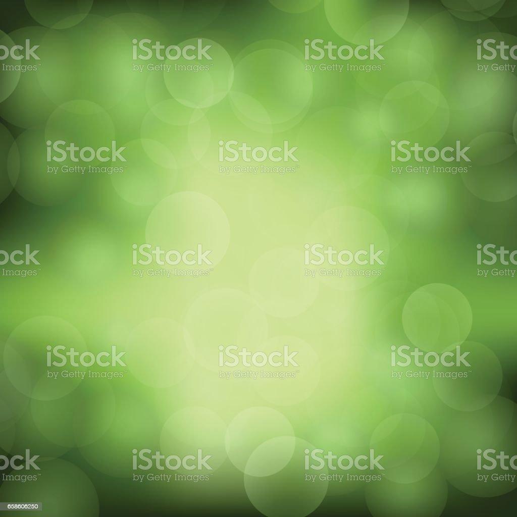 Fundo verde de luz turva - ilustração de arte em vetor