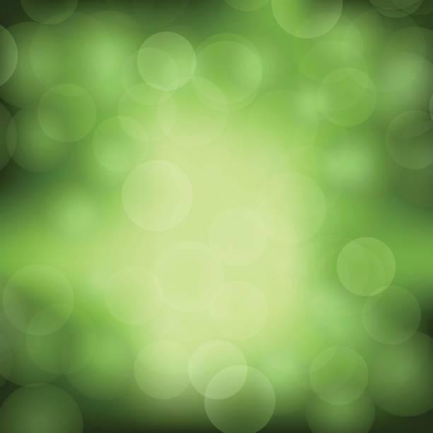 ilustrações, clipart, desenhos animados e ícones de fundo verde de luz turva - fontes de bolha