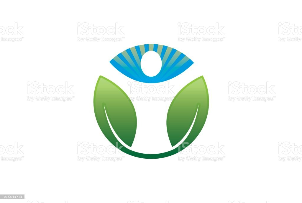 Green Body Circle Design Symbol vector art illustration