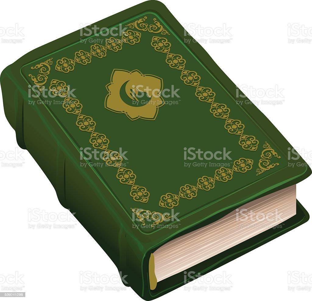 El Libro Verde Corán. Símbolo de religión el Islam ilustración de el libro verde corán símbolo de religión el islam y más banco de imágenes de alá libre de derechos
