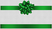 istock green bow and ribbon illustration for christmas and birthday decorations 1189804157