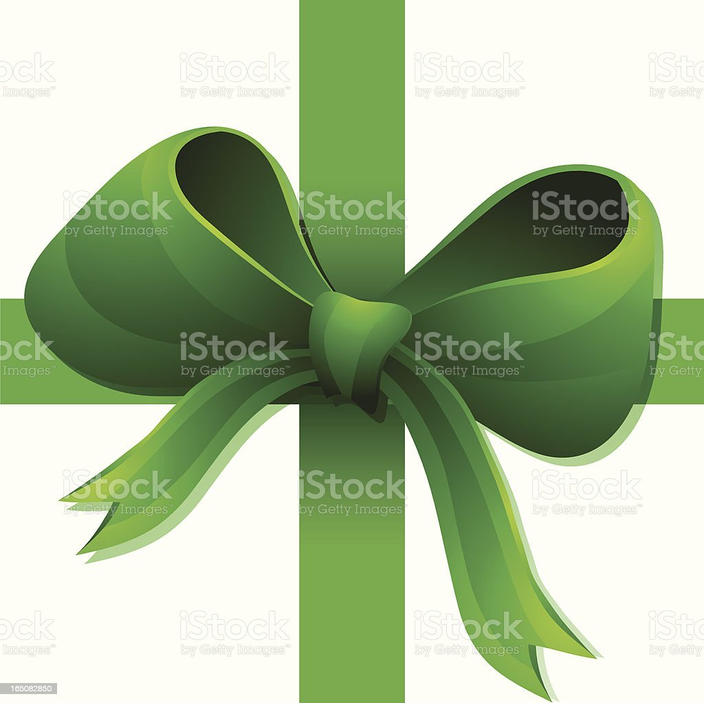 Green Bow royalty-free stock vector art