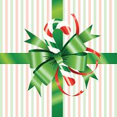 Green Bow with Candy Cane