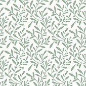Green Branch. Seamless Pattern.