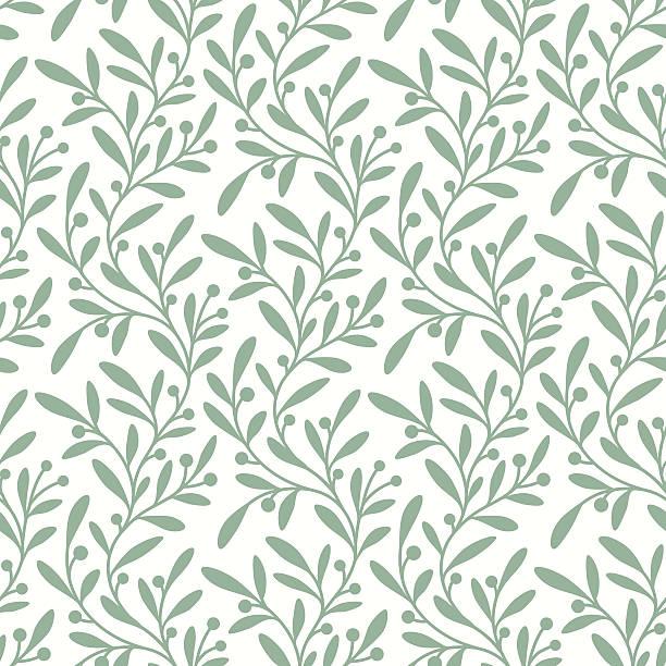 illustrazioni stock, clip art, cartoni animati e icone di tendenza di verde ramo.   pattern senza bordi. - motivo ripetuto