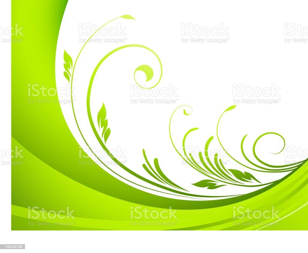 Green branch royalty-free stock vector art