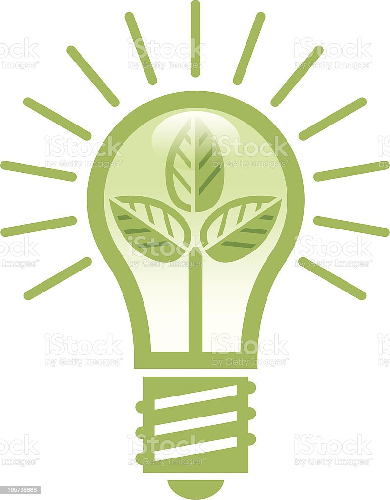 Green bulb royalty-free stock vector art