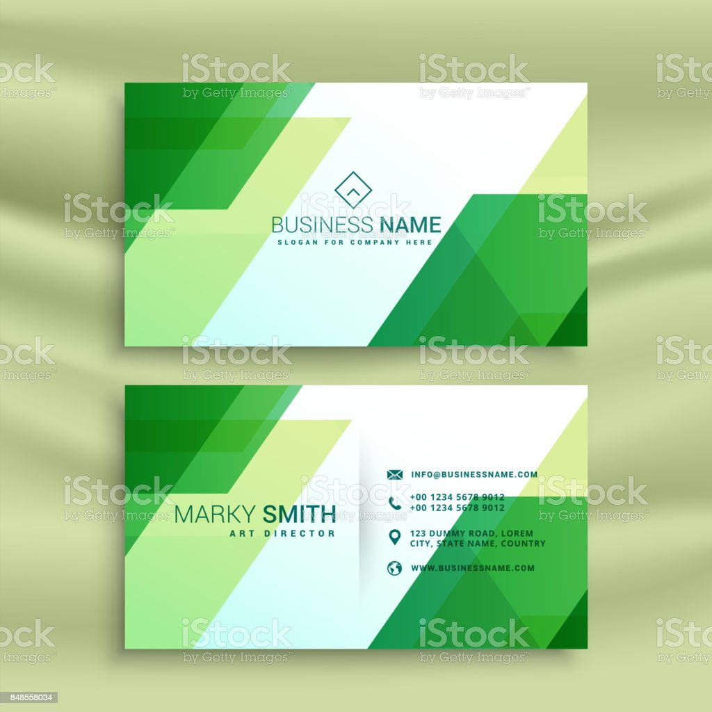 Green business card template with abstract shapes stock vector art green business card template with abstract shapes royalty free green business card template with abstract reheart Image collections