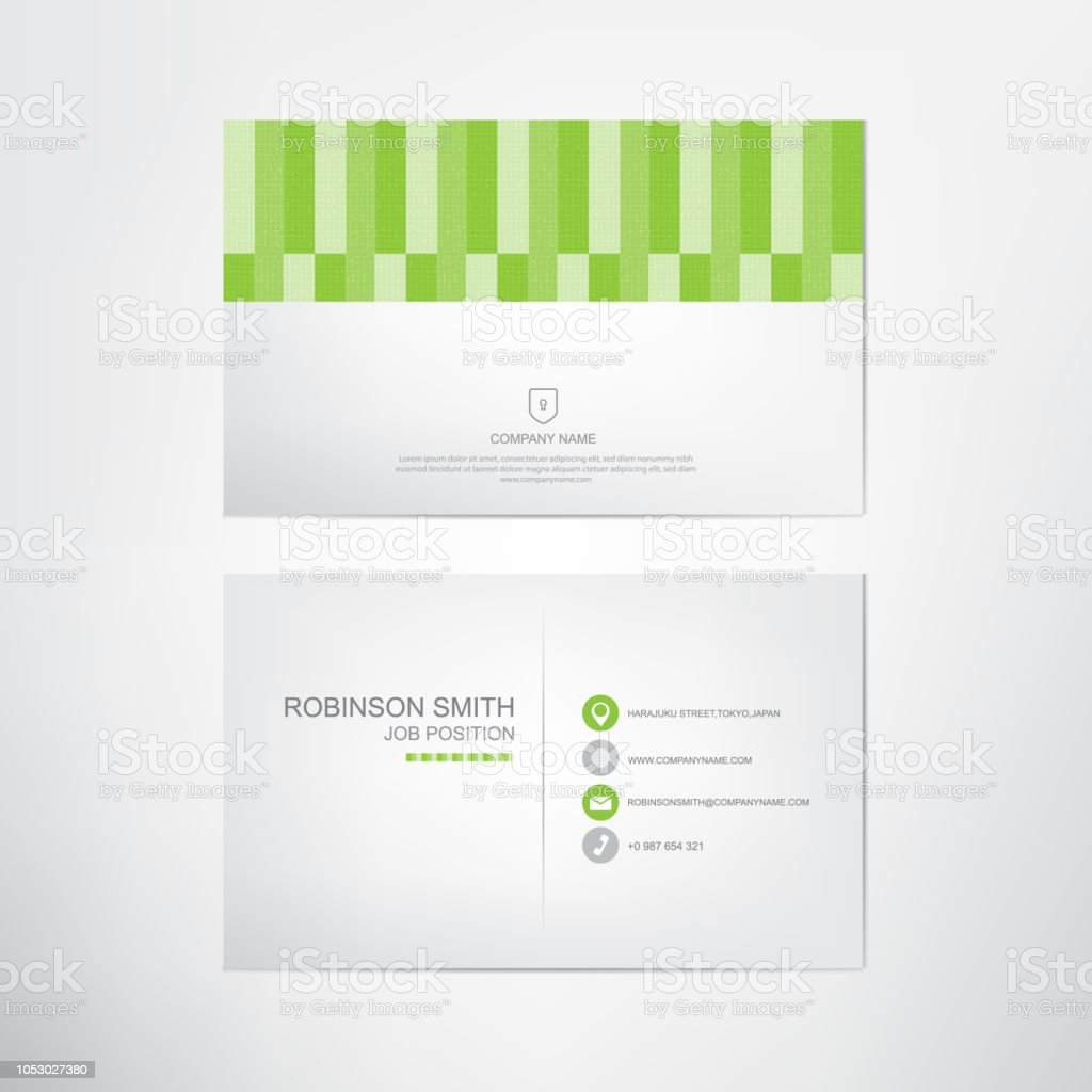 Green business card templatecontact and company card designvector green business card templatecontact and company card designvector royalty free fbccfo Images