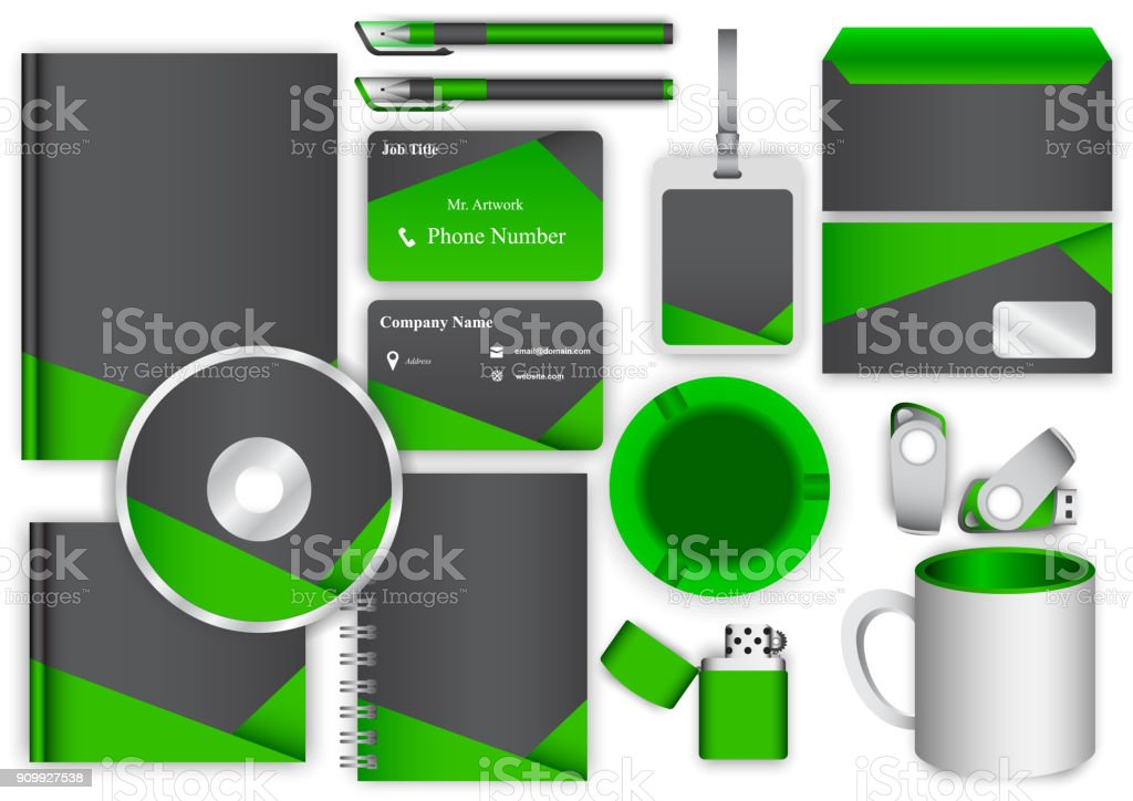 green business toolkit object vector art illustration