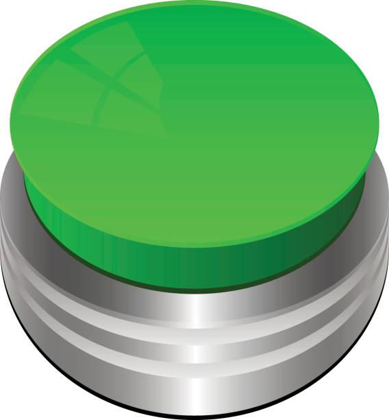 illustrazioni stock, clip art, cartoni animati e icone di tendenza di pulsante verde isolato su bianco - facilità