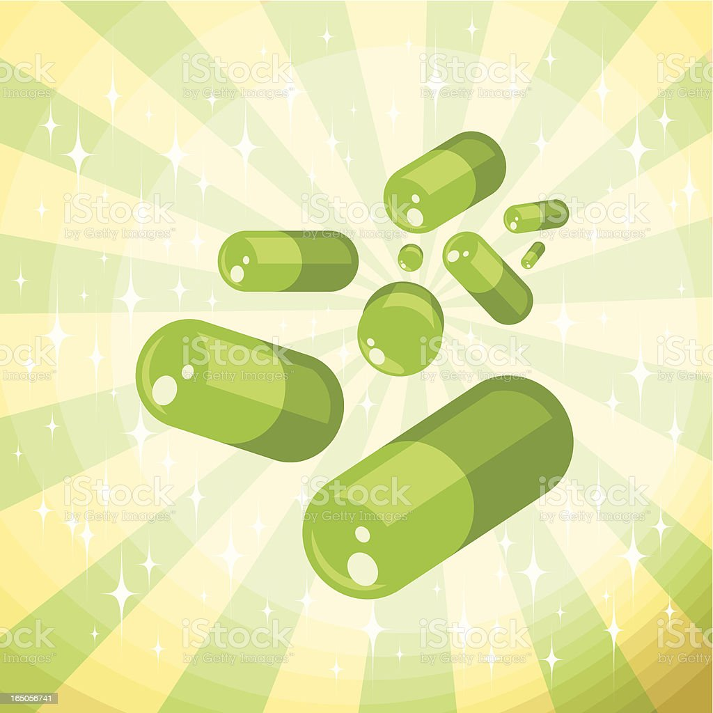Green Capsules royalty-free stock vector art