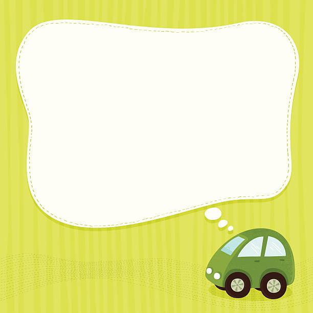 Green car banner vector art illustration