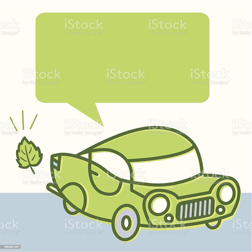 Green car emissions royalty-free stock vector art