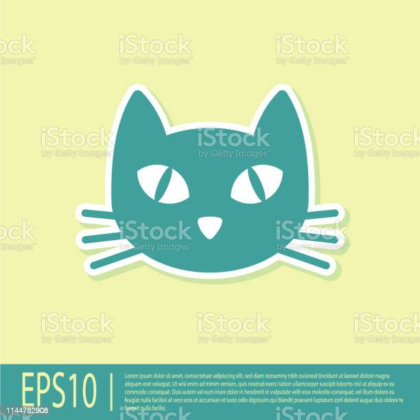 Green cat icon isolated on yellow background vector illustration vector id1144782908?b=1&k=6&m=1144782908&s=612x612&h=sih n e otwxdh skcs2xgruahvd1f6mxqtfwzrlp6g=