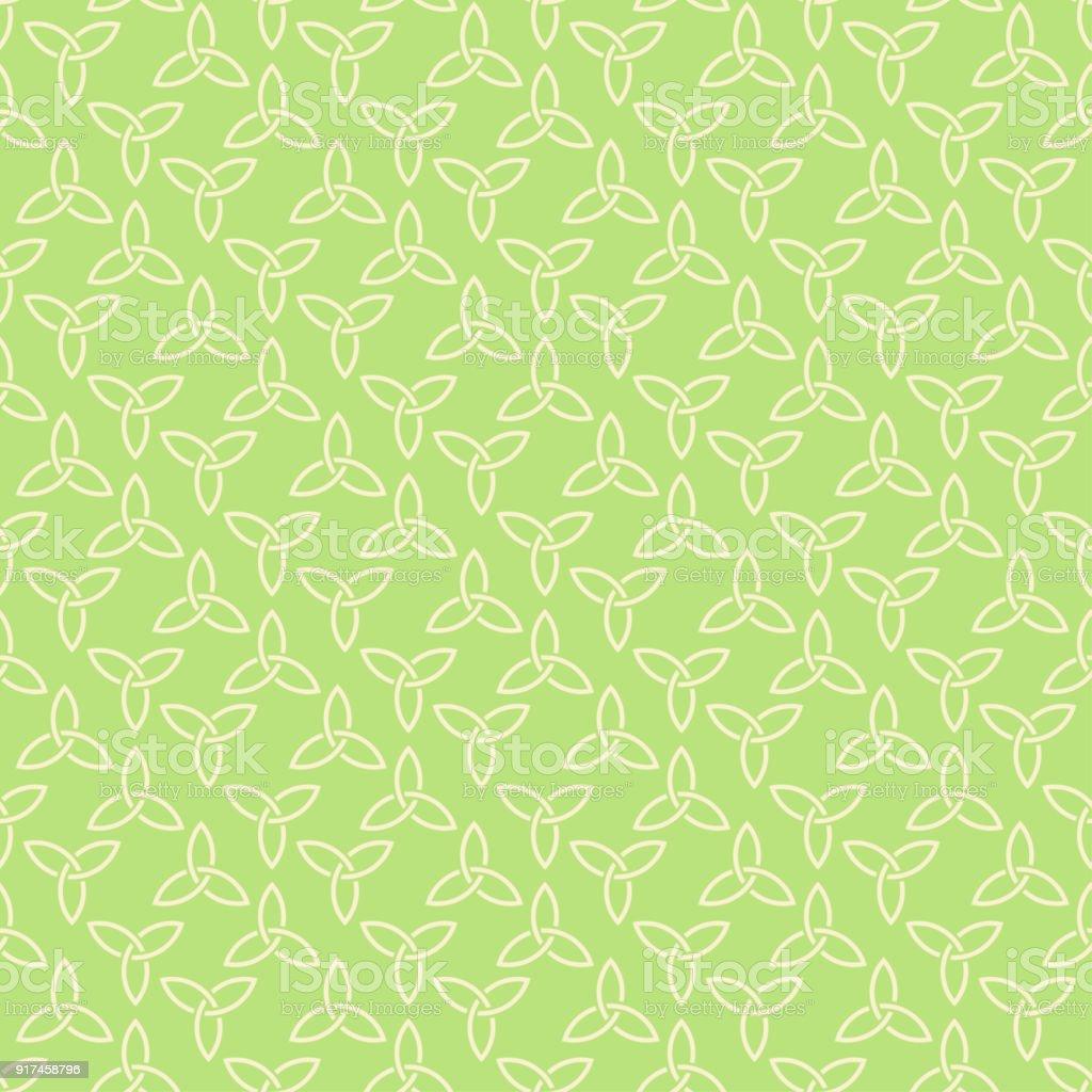 Ilustración de Patrón Transparente Verde Estilo Celta y más banco de ...