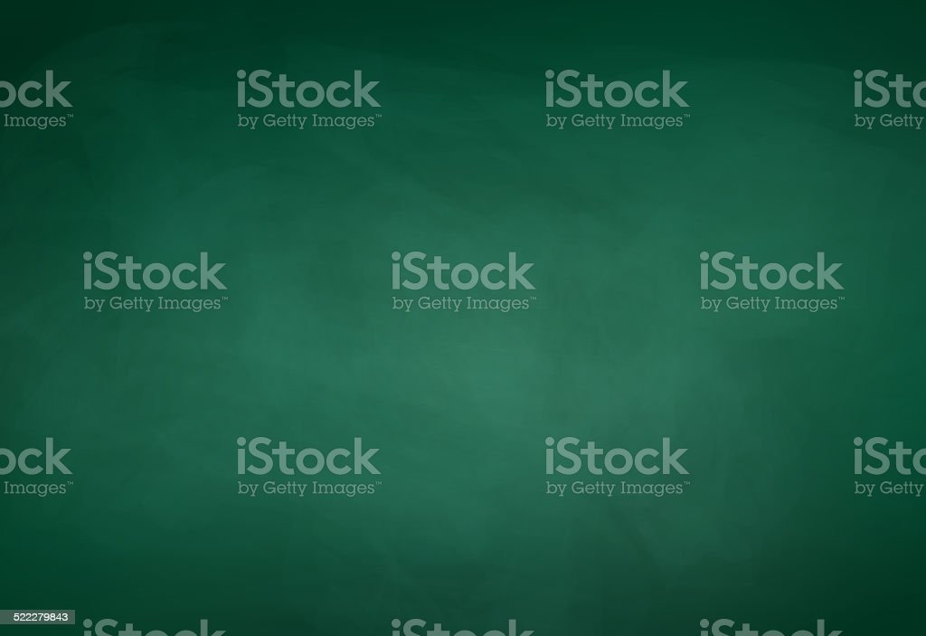 Green chalkboard background. vector art illustration