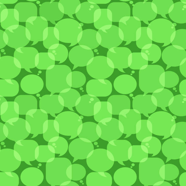 Green Chat Bubbles royalty free vector art Pattern Green Chat Bubbles Icon Pattern pattern stock illustrations
