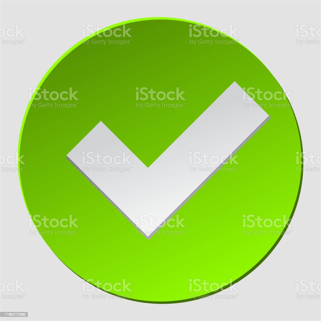 Green check in circle. Check mark sign approved. Ok, yes icon,...