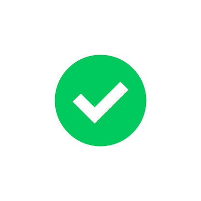 Green Check Mark Icon Green Tick Symbol Round Checkmark Sign Vector Check  Icon Stock Illustration - Download Image Now - iStock