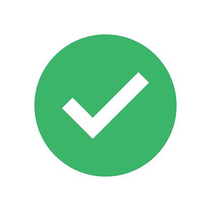 Groen Vinkje Geïsoleerd Op Witte Achtergrond Goedgekeurd Teken Akkoord  Element Stockvectorkunst en meer beelden van Begrippen - iStock