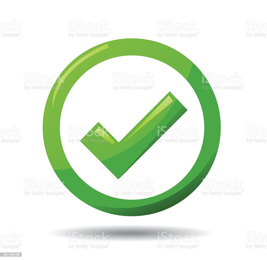 Green Check Mark Symbol Stock Vector Art More Images Of 2015