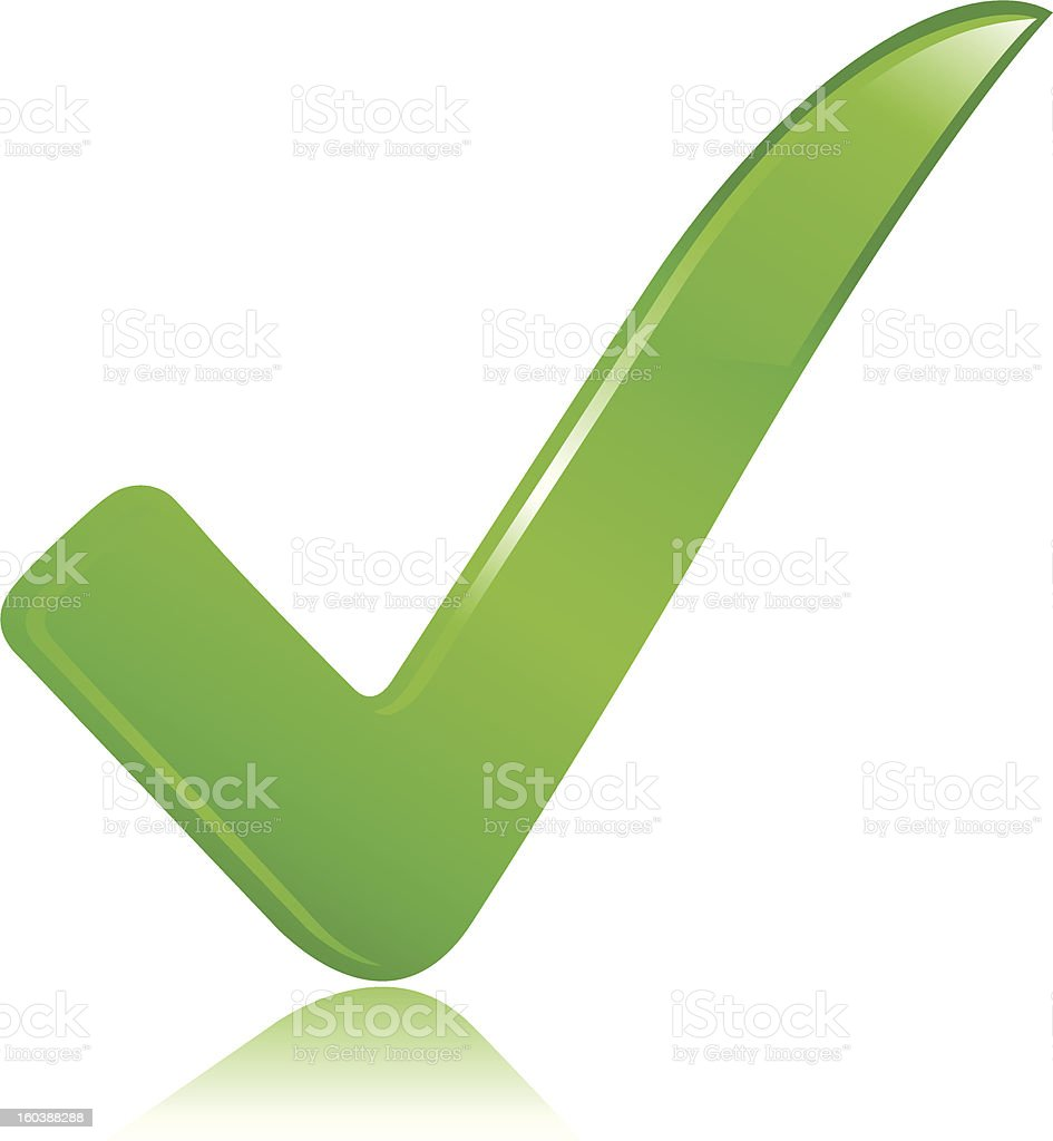 Green Check Mark royalty-free stock vector art