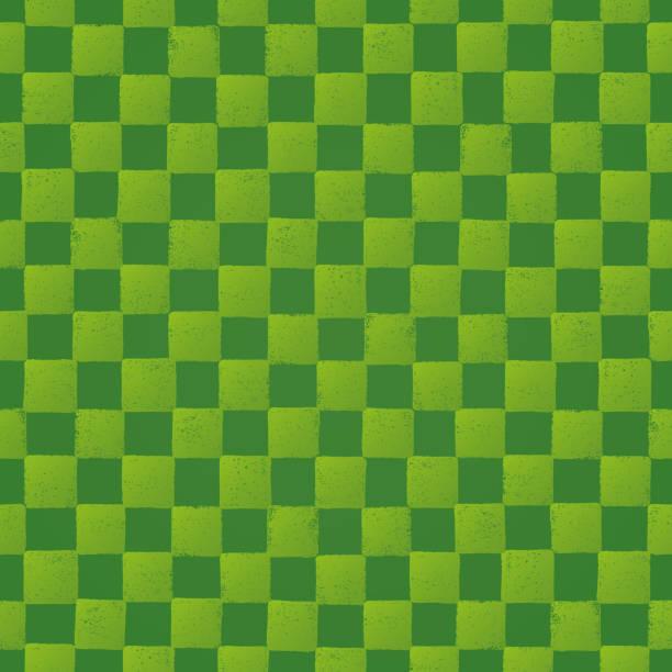 緑の市松模様。 - 抹茶点のイラスト素材/クリップアート素材/マンガ素材/アイコン素材