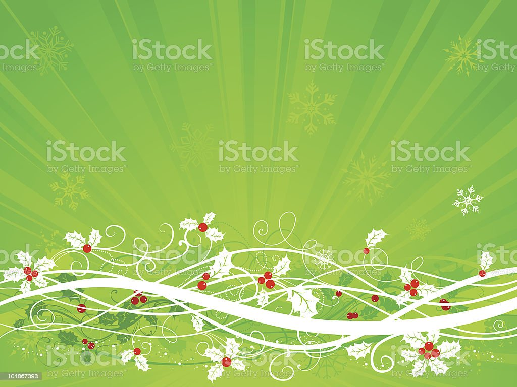Green Christmas background royalty-free stock vector art