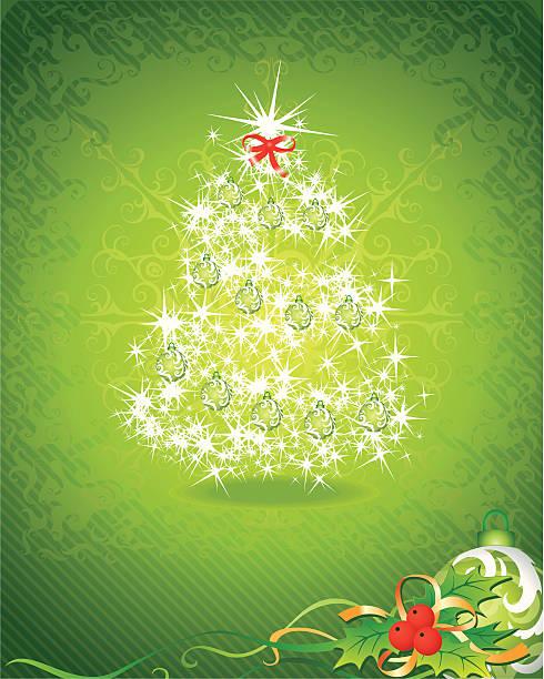 緑のクリスマスの背景 - 休日/季節ごとのイベント点のイラスト素材/クリップアート素材/マンガ素材/アイコン素材
