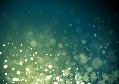 Green Christmas glitter