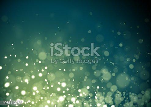 istock Green Christmas glitter 1265110789